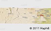 Satellite Panoramic Map of Hyderābād