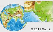 Physical Location Map of Tando Jām