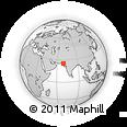 Outline Map of Mīrpur Khās, rectangular outline