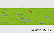 Physical Panoramic Map of Tando Jām