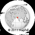 Outline Map of Umarkot, rectangular outline