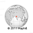Outline Map of Amet, rectangular outline