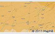 Political 3D Map of Bhīlwāra