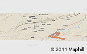 Shaded Relief Panoramic Map of Kota
