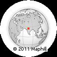 Outline Map of Māngrol, rectangular outline