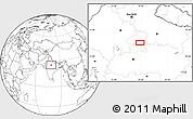 Blank Location Map of Jhānsi