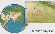 Satellite Location Map of Jhānsi