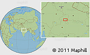 Savanna Style Location Map of Jhānsi