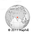 Outline Map of Orchha, rectangular outline