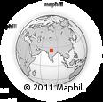 Outline Map of Jhānsi, rectangular outline