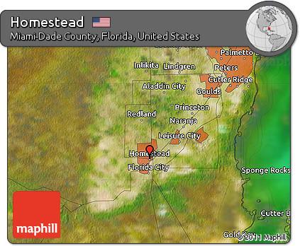 Map Of Homestead Florida.Free Satellite Map Of Homestead
