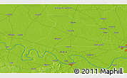 """Physical 3D Map of the area around 25°22'6""""N,82°31'30""""E"""