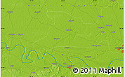 """Physical Map of the area around 25°22'6""""N,82°31'30""""E"""