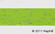 """Physical Panoramic Map of the area around 25°22'6""""N,82°31'30""""E"""