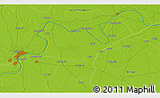 """Physical 3D Map of the area around 25°22'6""""N,83°22'30""""E"""