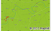 """Physical Map of the area around 25°22'6""""N,83°22'30""""E"""