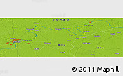 """Physical Panoramic Map of the area around 25°22'6""""N,83°22'30""""E"""