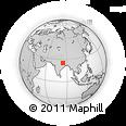 Outline Map of Dumraon, rectangular outline