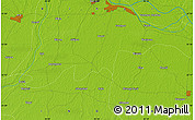 """Physical Map of the area around 25°22'6""""N,85°4'29""""E"""