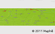 """Physical Panoramic Map of the area around 25°22'6""""N,85°4'29""""E"""