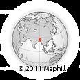 Outline Map of Meghalaya, rectangular outline