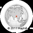 Outline Map of Meghalaya Tourism, rectangular outline
