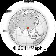 Outline Map of Hkoma, rectangular outline