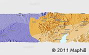 Political Panoramic Map of Hkoma