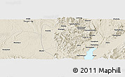Shaded Relief Panoramic Map of Hkoma