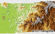 """Physical 3D Map of the area around 25°22'6""""N,97°49'29""""E"""