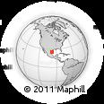 Outline Map of Cándido Aguilar, rectangular outline