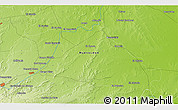 """Physical 3D Map of the area around 25°22'6""""N,99°22'30""""W"""