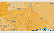 """Political 3D Map of the area around 25°22'6""""N,99°22'30""""W"""