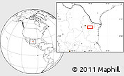 """Blank Location Map of the area around 25°22'6""""N,99°22'30""""W"""