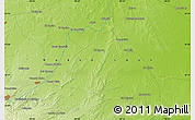 """Physical Map of the area around 25°22'6""""N,99°22'30""""W"""