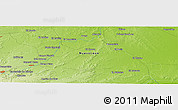 """Physical Panoramic Map of the area around 25°22'6""""N,99°22'30""""W"""
