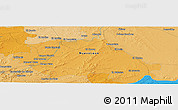 """Political Panoramic Map of the area around 25°22'6""""N,99°22'30""""W"""