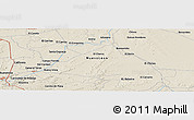 """Shaded Relief Panoramic Map of the area around 25°22'6""""N,99°22'30""""W"""