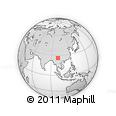 Outline Map of Dali, rectangular outline