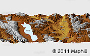 """Physical Panoramic Map of the area around 25°51'37""""N,100°22'30""""E"""