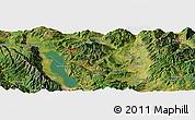 Satellite Panoramic Map of Dali