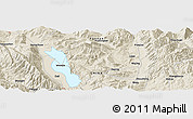 """Shaded Relief Panoramic Map of the area around 25°51'37""""N,100°22'30""""E"""