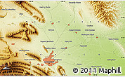 """Physical Map of the area around 25°51'37""""N,100°13'29""""W"""
