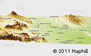 """Physical Panoramic Map of the area around 25°51'37""""N,100°13'29""""W"""