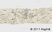 Shaded Relief Panoramic Map of Xinhua
