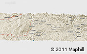 Shaded Relief Panoramic Map of Jiucun