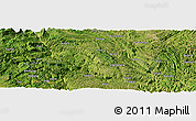 Satellite Panoramic Map of Bangui