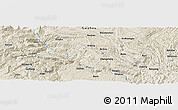 Shaded Relief Panoramic Map of Bangui