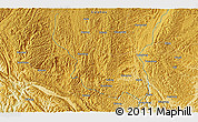 """Physical 3D Map of the area around 25°51'37""""N,106°19'29""""E"""