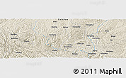Shaded Relief Panoramic Map of Bayang